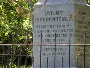 Mount Independence Monument