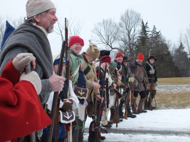 This squad was composed of re-enactors from both the French & Indian and the Revolutionary wars.