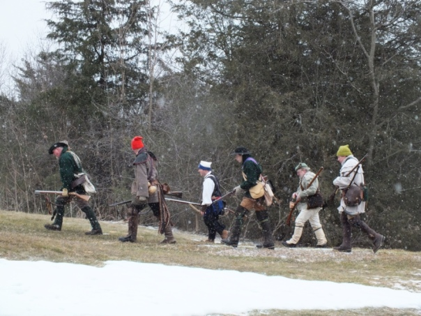 The snow was falling as the squad marched up the Mount.